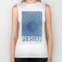 persian Biker Tanks featuring Persian Pride by Steiner Graphics
