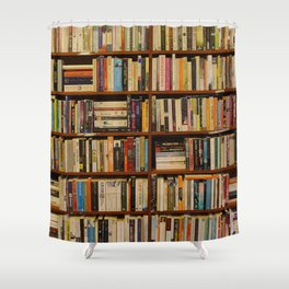 Bookshelf Books Library Bookworm Reading Shower Curtain