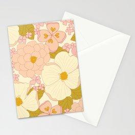 Pink Pastel Vintage Floral Pattern Stationery Cards