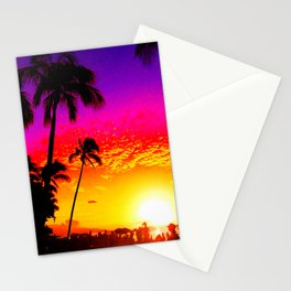 Sunset on Waikiki Stationery Cards