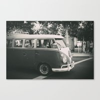 volkswagen Canvas Prints featuring Volkswagen by Monica Galvan
