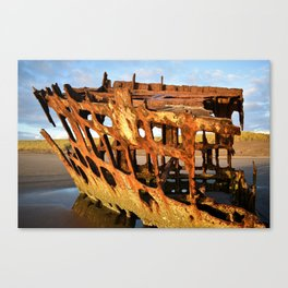 The Wreck of the Peter Iredale Canvas Print