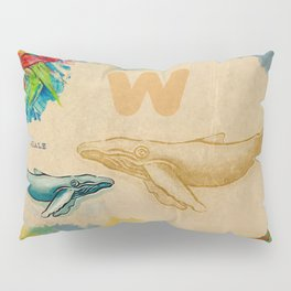 English alphabet , Whale Pillow Sham