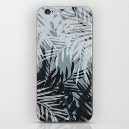 Gray Leaves pattern . iPhone Skin