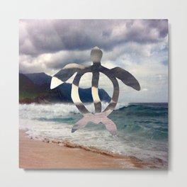Hawaii Sea Turtle Metal Print