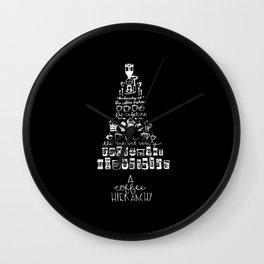 A Coffee Hierarchy Wall Clock