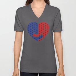 Democrat Donkey and Republican Elephant Love Heart Shape Unisex V-Neck