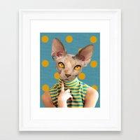 dot Framed Art Prints featuring DOT by Julia Lillard Art