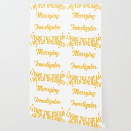 Investigator Gift Marrying A Perfect Investigator Newlywed Wedding Anniversary Wallpaper
