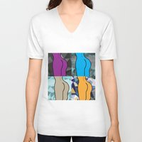 booty V-neck T-shirts featuring Booty-ful  by MischievousDesign