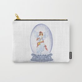snow globe angel christmas winter Carry-All Pouch
