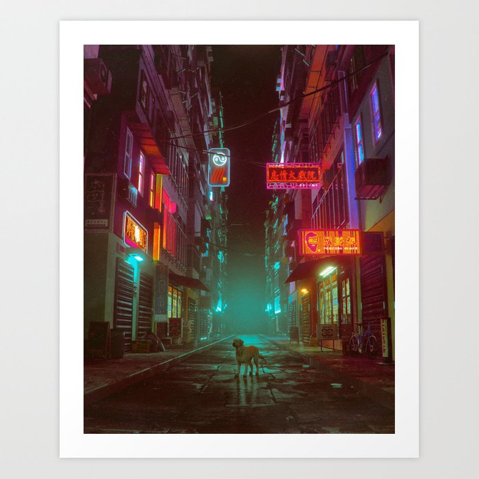 YEAR OF THE DOG (everyday 05.01.18) Art Print