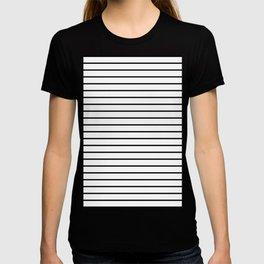 white lines, black and white stripes - striped design T-shirt
