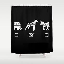 VOTE BOXER Shower Curtain