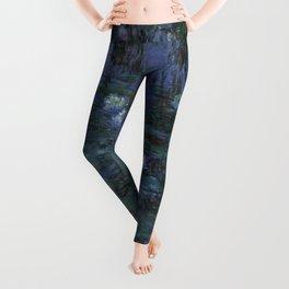 Claude Monet - Blue Water Lilies Leggings