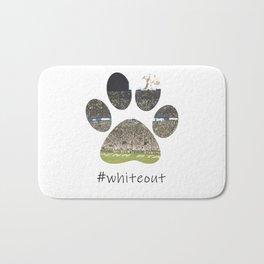 #whiteout Bath Mat