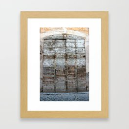 Roman door Framed Art Print