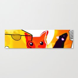 CAT AND MICE OVER A CHEESE Canvas Print