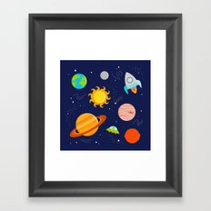 Planet Party Framed Art Print