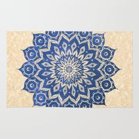 unique Area & Throw Rugs featuring ókshirahm sky mandala by Peter Patrick Barreda