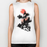 budi Biker Tanks featuring Samurai's life by Picomodi