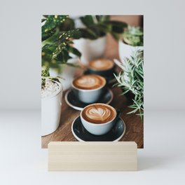 Latte + Plants Mini Art Print