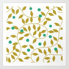 GOLD LEAVES Art Print