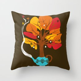 Tea Leaves Throw Pillow