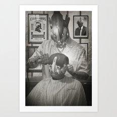 Cyber Barber Art Print