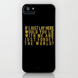 Chasing Cars iPhone Case
