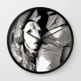 B&W Beach Scene 5 Wall Clock