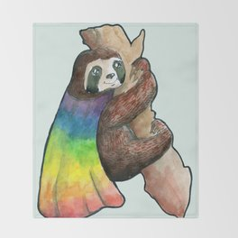 the gay hero sloth Throw Blanket