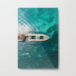 Ay Ay Captain, Aerial Print, Shipwreck Print, Art Print, Modern Wall Art, Sea Print, Ocean Print Metal Print