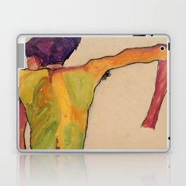 "Egon Schiele ""Male Nude, Propping Himself Up"" Laptop & iPad Skin"
