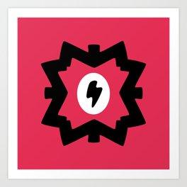 Lightning Bolt Design Art Print