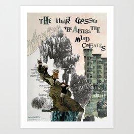 The Heart Crosses Art Print