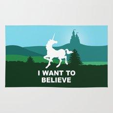 I WANT TO BELIEVE - Unicorn Rug