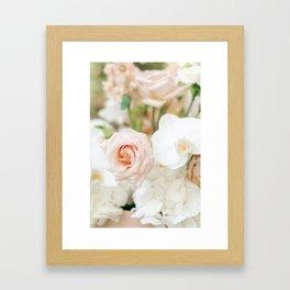 Blush Roses   Pastel Color Bouquet   Fine Art Photographer Print Framed Art Print