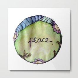 Peace Circle Metal Print