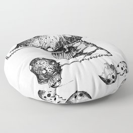 Funy Mushroom Mother Breastfeeding Her Newborn Daughter After Exiting The Egg Grphc Floor Pillow