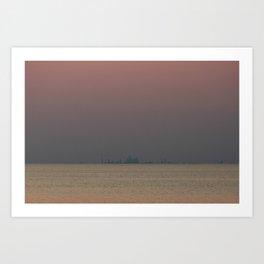 Toronto Skyline Sunset Art Print