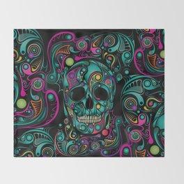Skull Camouflage Throw Blanket