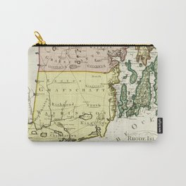 1797 Colonial Era Map of Rhode Island and Narragansett Bay Carry-All Pouch