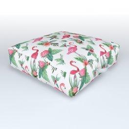 Flamingo Floral Tropical Outdoor Floor Cushion