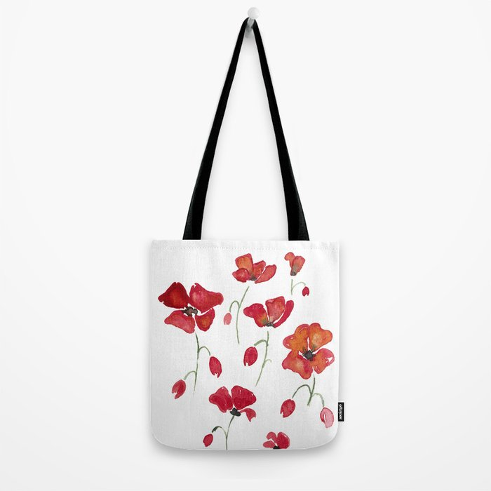 Swedish Poppies Tote Bag