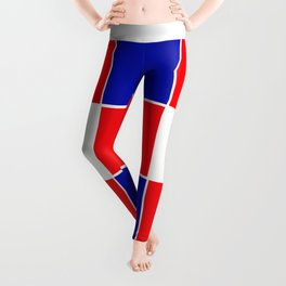 TEAM COLORS 3 ....BLUE , RED Leggings