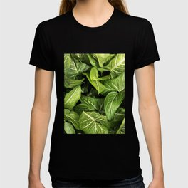 Botanical leaves photography T-shirt