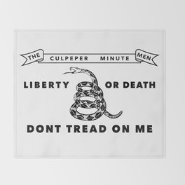 Culpeper Minutemen Flag - Authentic High Quality Throw Blanket