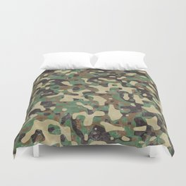 Distressed Army Camo Duvet Cover