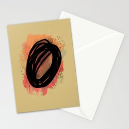 Abstract: black marker Stationery Cards